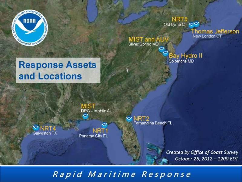 SANDY rapid response assets