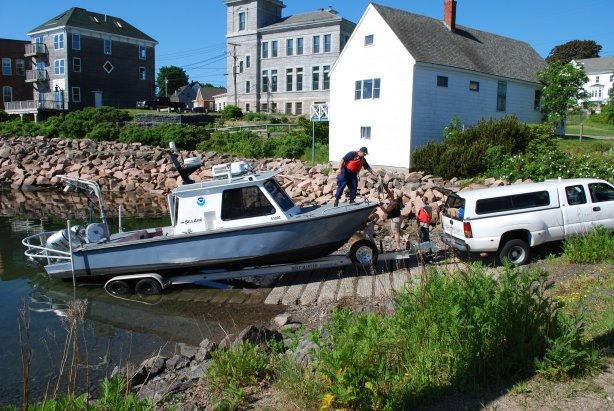 A navigation response team deployed to Maine's dangerous Cobscook Bay in 2010. The Eastport fishing community asked for full bottom surveys and updates to nautical charts after several men lost their lives when their boats capsized.