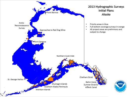 NOAA prelim 2013 survey plans - AK