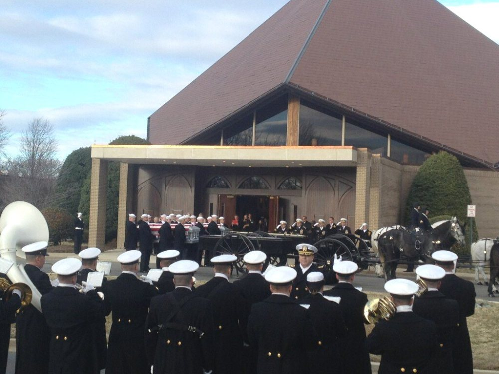 Transferring the caskets for funeral procession