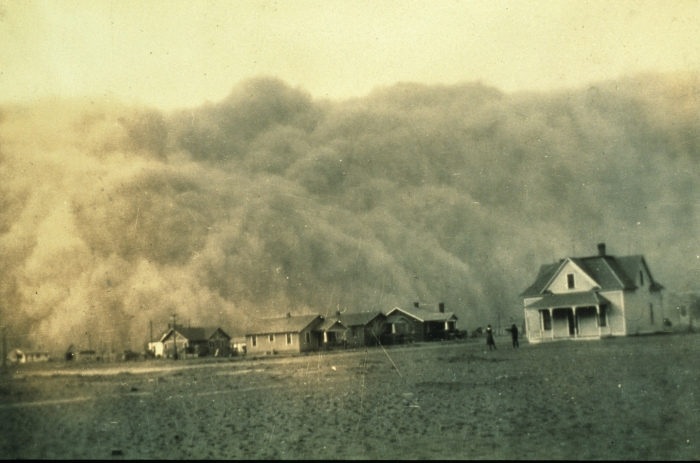 USC&GS engineer George Marsh took this photo of a Texas dust storm in 1935.