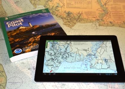 MyNOAACharts on tablet