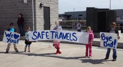 Rainier families send off