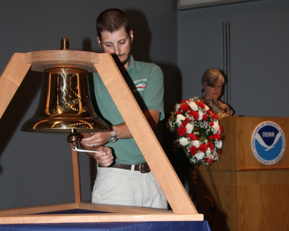 Meohl rings bell in honor of the men who died