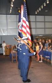 Walker Ceremony 06212013 USCG Honor Guard Retires Colors 2_DHall NOAA