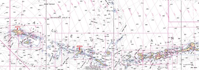 ATTU ISLAND and KISKA ISLAND are in the Aleutian Islands, Alaska