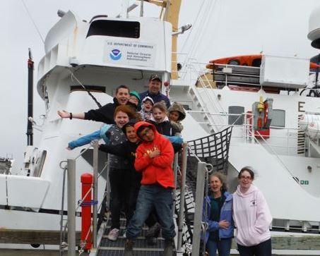 Cold Bay's elementary school student visit the NOAA Ship Rainier