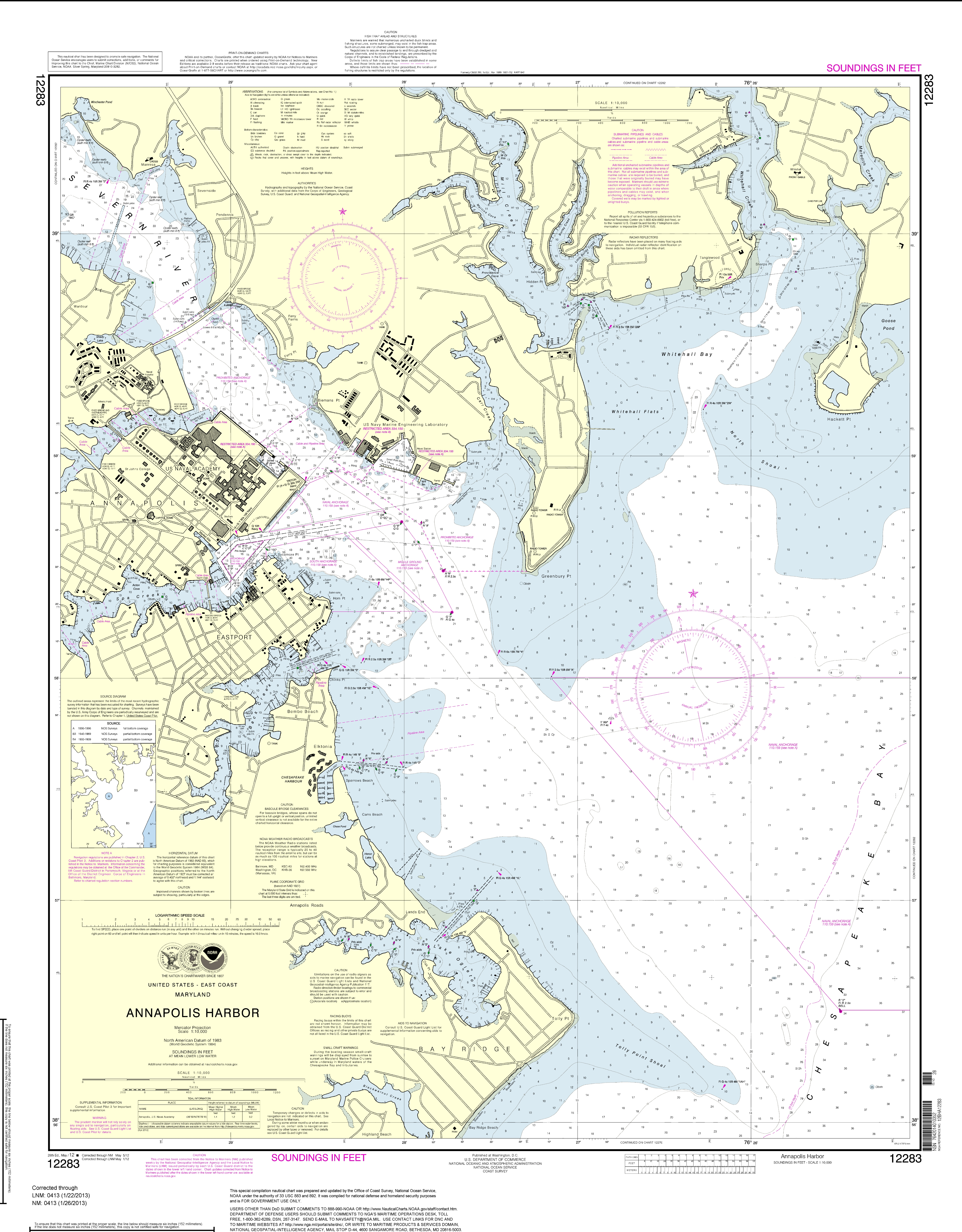 Noaa Nautical Charts Now Available As Free Pdfs