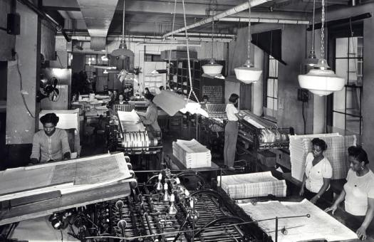 During World War II, Coast Survey's map folding room was a busy place.