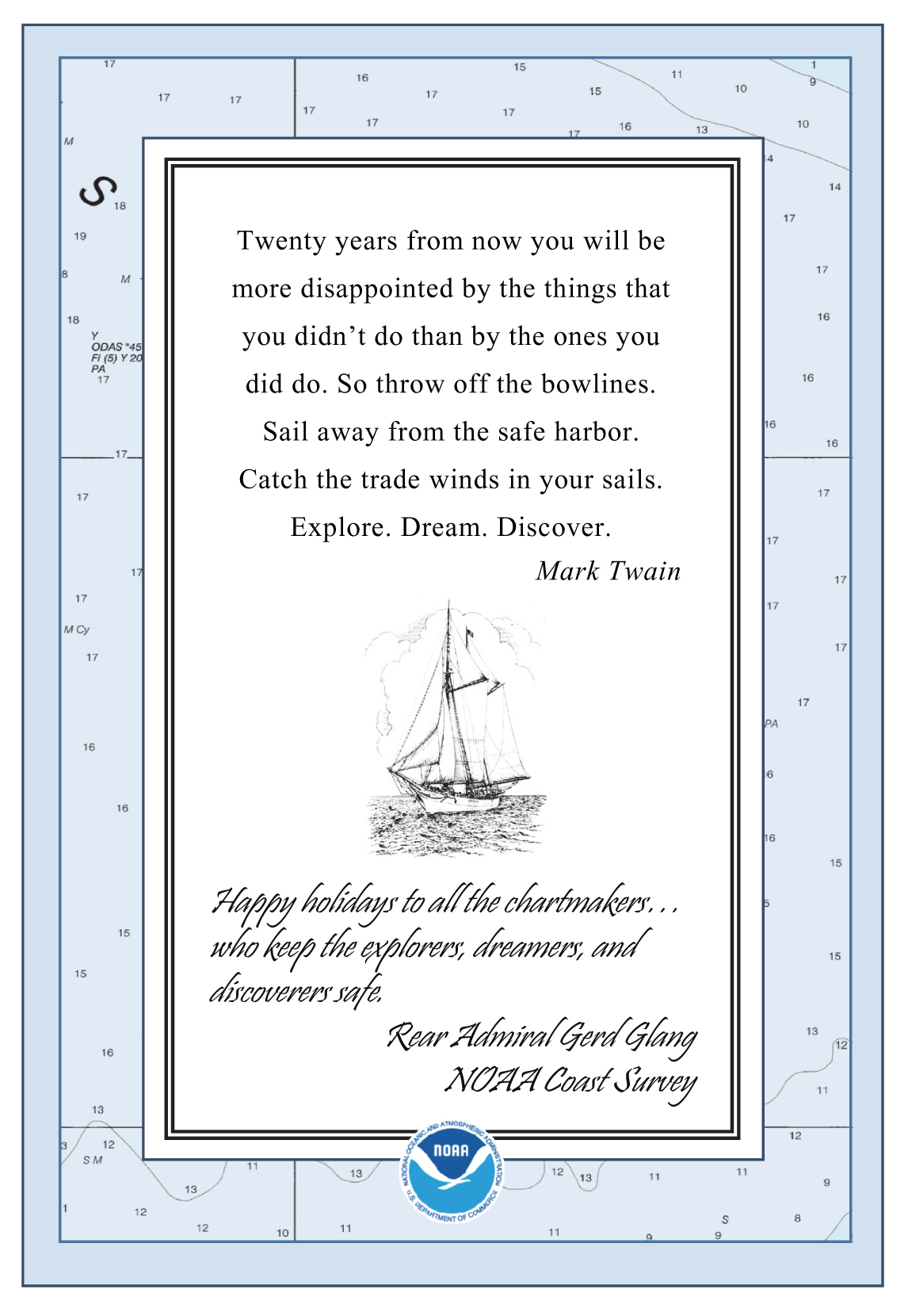 Cartography noaa coast survey page 3 holiday card 2013 buycottarizona Image collections