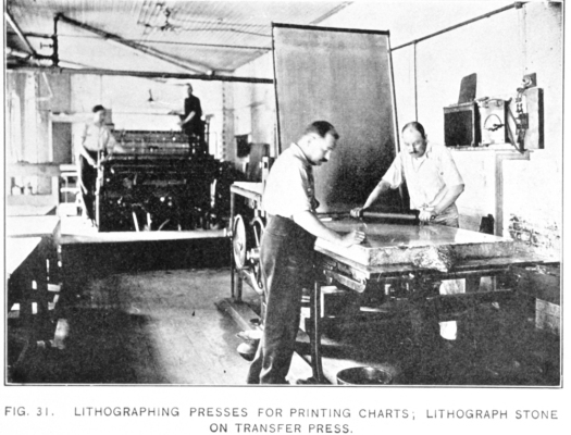 The lithographic printing presses in 1908 hadn't yet reached the speed and efficiency that would be needed for time of war.