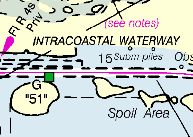 noaa coast survey to improve magenta line on intracoastal waterway nautical charts