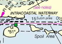 "The rebuilt ""magenta line"" will be a directional guide to help assure navigation safety."