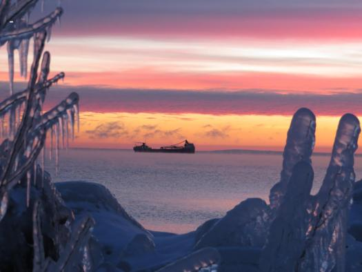 Iron ore shipment on Lake Superior