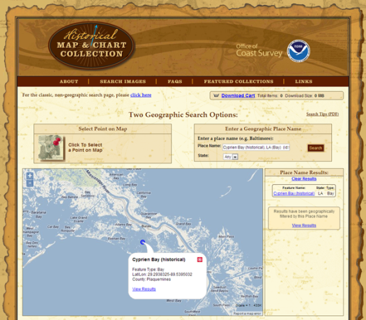 Search over 35,000 historical maps and charts.