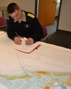 Rear Admiral Glang certified one of the new printing agents for NOAA's paper nautical charts.