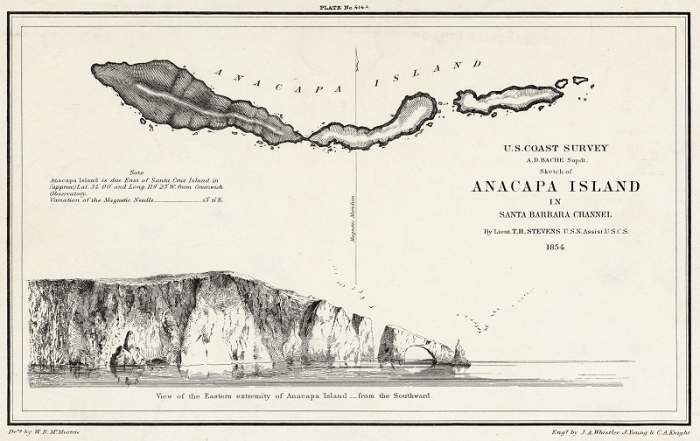 Sketch of Anacapa Island