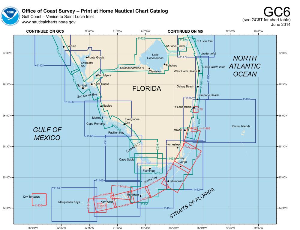 So. Florida chart catalog