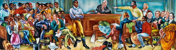 Amistad mural: the Court Scene