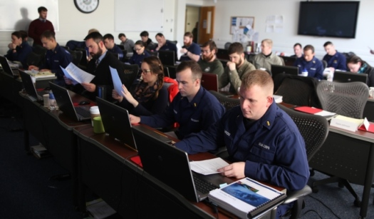 NOAA hydro class at USCG Training Center