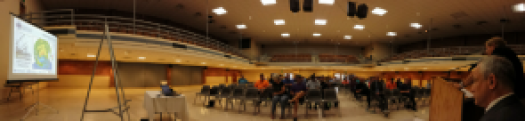 Public preparedness meeting at Port Morgan City, Louisiana.