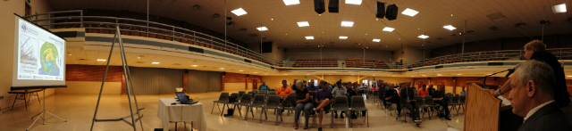 Public preparedness meeting at Port Morgan City, Louisiana.