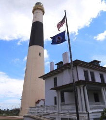 Absecon lighthouse with NOAA flag