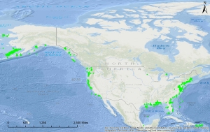 Map showing locations of recovered oceanographic profiles
