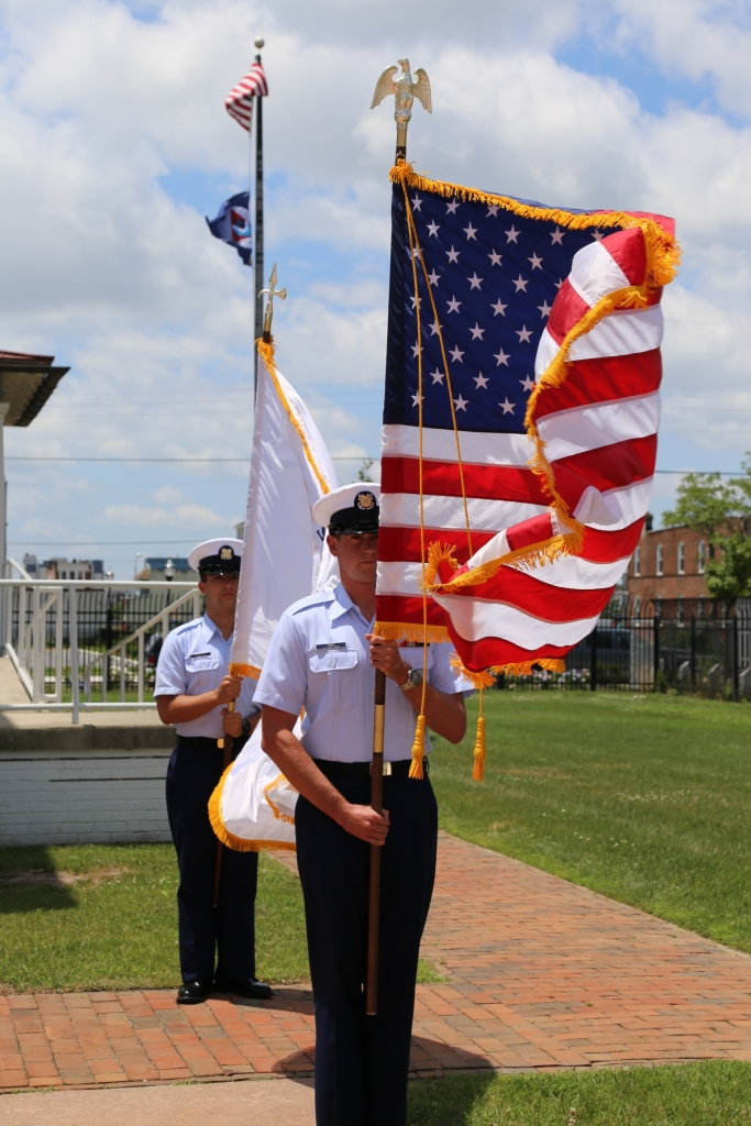 A color guard from U.S. Coast Guard Station Atlantic City presents the colors. Photo by David Hall