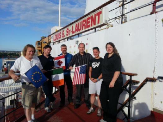 International team on Canadian Coast Guard Vessel.