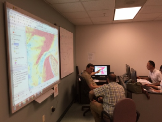 Instructor demonstrating use of publicly available information.