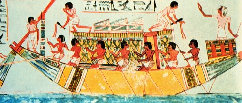 Egyptian use of sounding pole