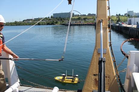 Doug Wood deploys Z-Boat