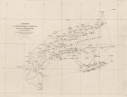 Hassler's first triangulation diagram
