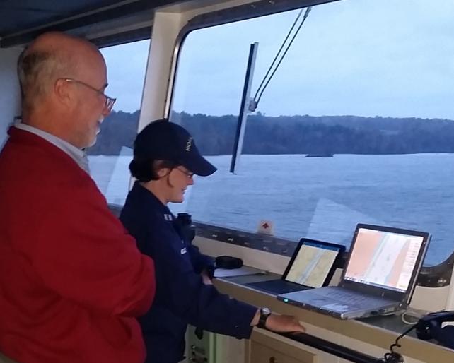 MeghanMcGovern w CAPT Scott Ireland - Hudson River Pilot