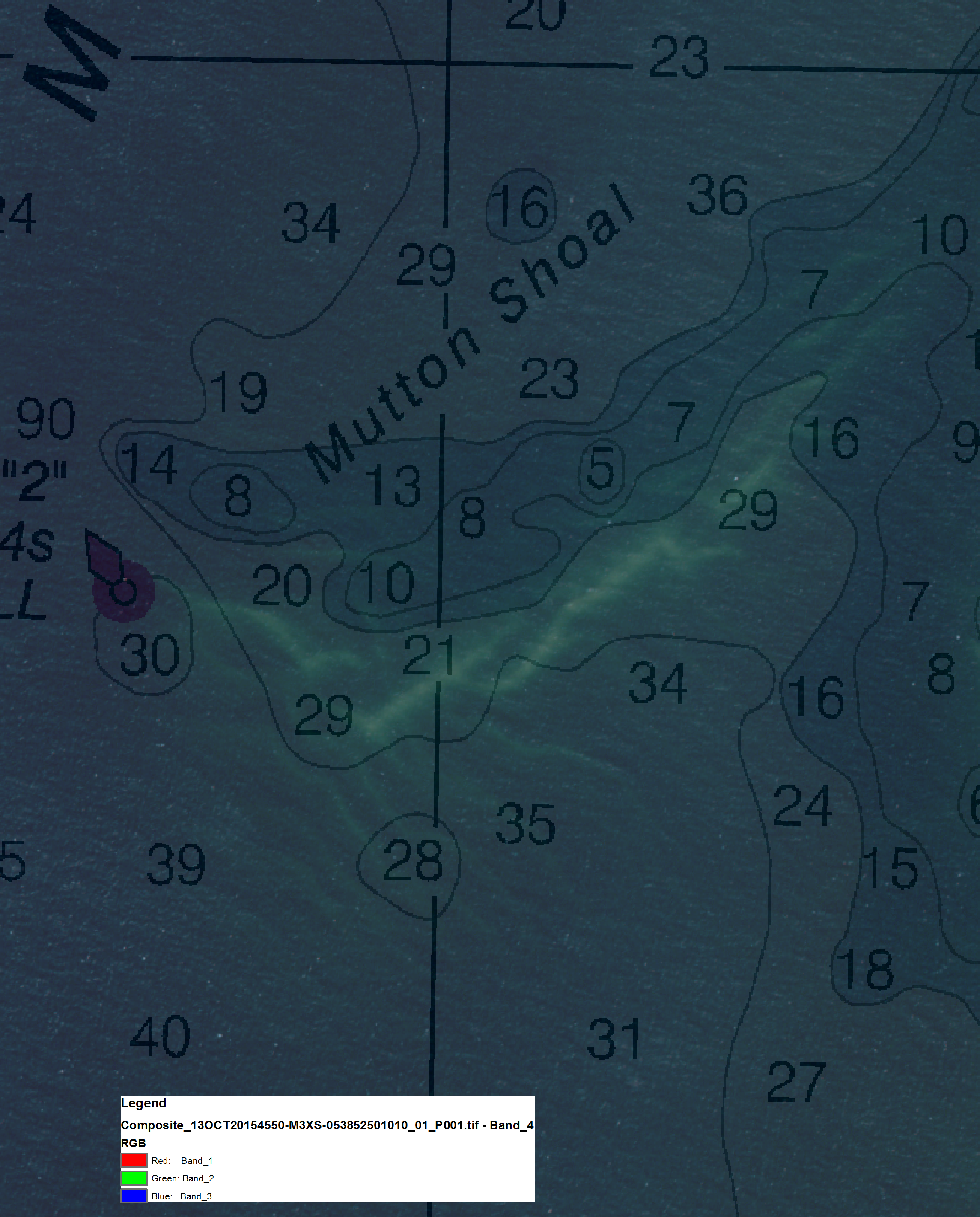 Noaa ship thomas jefferson noaa coast survey multi spectral satellite imagery of mutton shoal in nantucket sound overlaid on the chart geenschuldenfo Choice Image