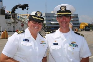 LCDR Welton and LCDR Jaskoski