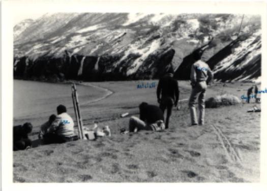 Rainier crew at Broken Point, Uganik Bay, in the 1970s
