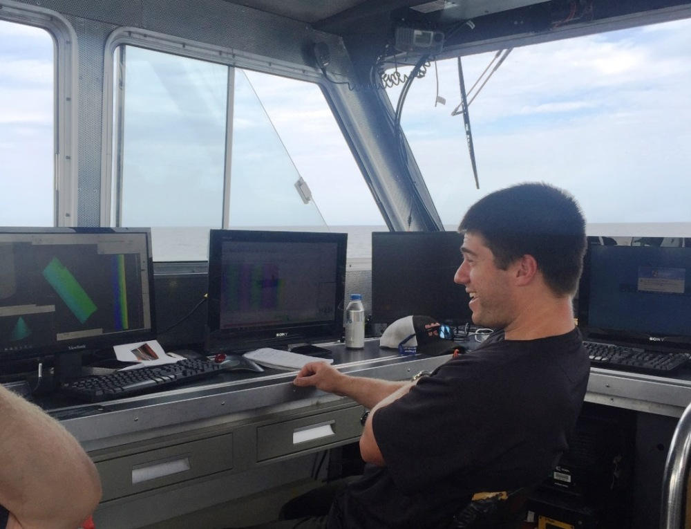 NOAA marine archaeologist Phil Hartmeyer acquired survey data for the project.