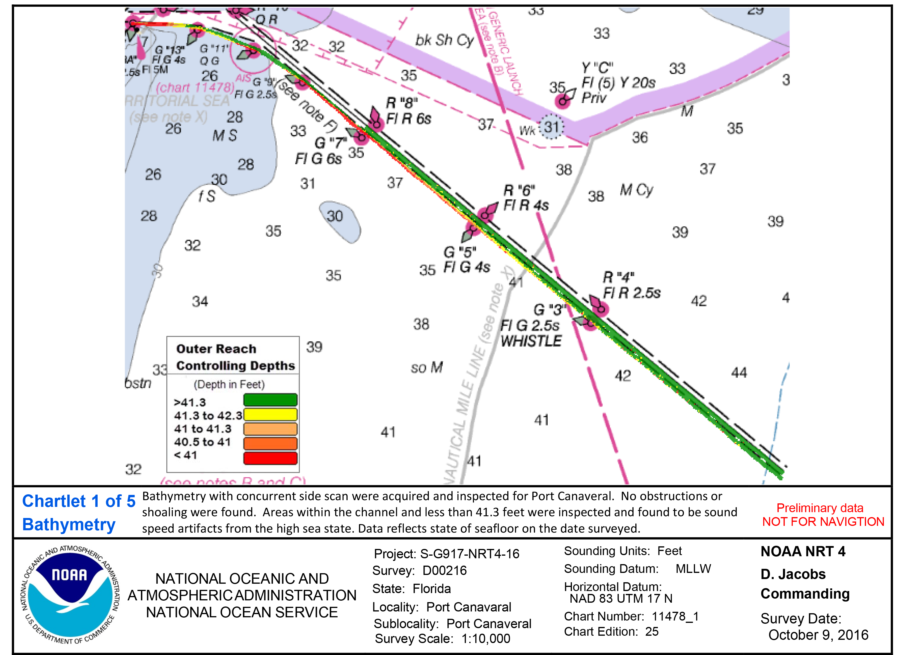 Navigation response teams noaa coast survey chartletcanaveralchannel 1 nvjuhfo Choice Image