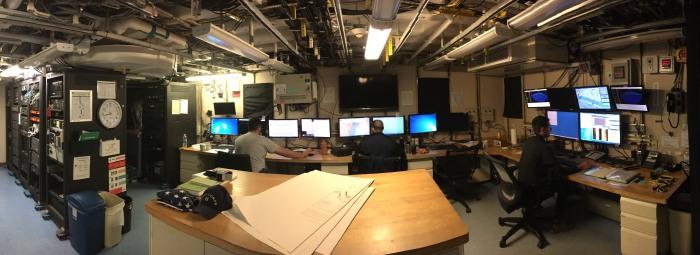 Survey technicians are on duty 24/7 while NOAA Ship Ferdinand R. Hassler surveys port areas after Hurricane Matthew.