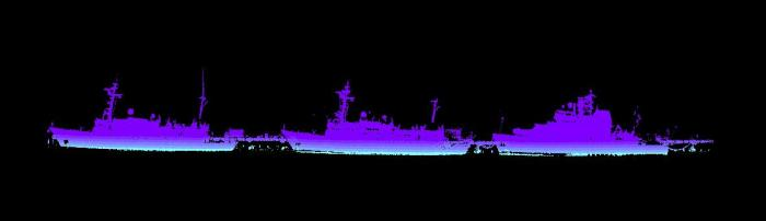laser image of NOAA ships