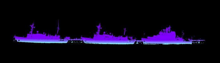 laser image of NOAA ships