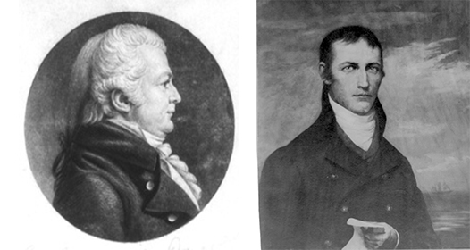 Samuel Dana (left) represented Connecticut in Congress from 1797 to 1821. Jacob Crowninshield, of the famed American maritime family, chaired the House Committee on Commerce and Manufactures in the 9th Congress.