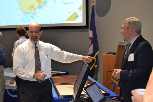 Sean Legeer talks about NOAA nautical charts past, present, and future with Ben Friedman, NOAA Administrator.