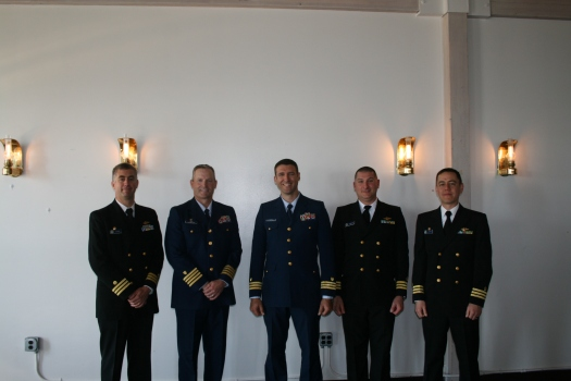 CG CO, XO, and CDR Levine