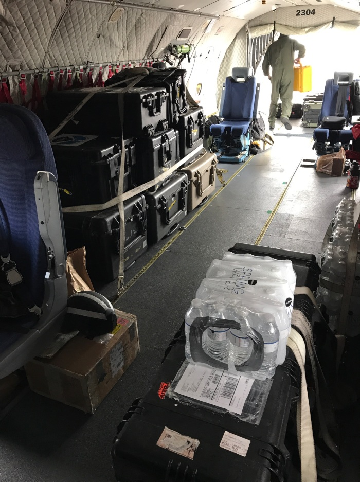 MIST hydrographic survey equipment being transported to Miami.