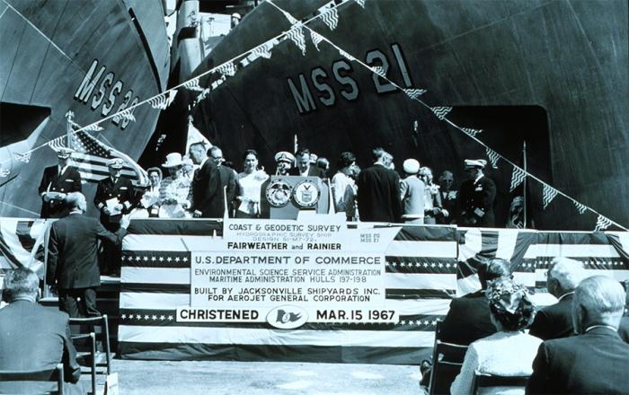 NOAA Ships Fairweather and Rainier .