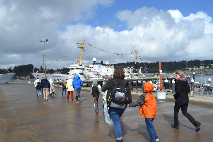 NOAA Ship Rainier and visitors.