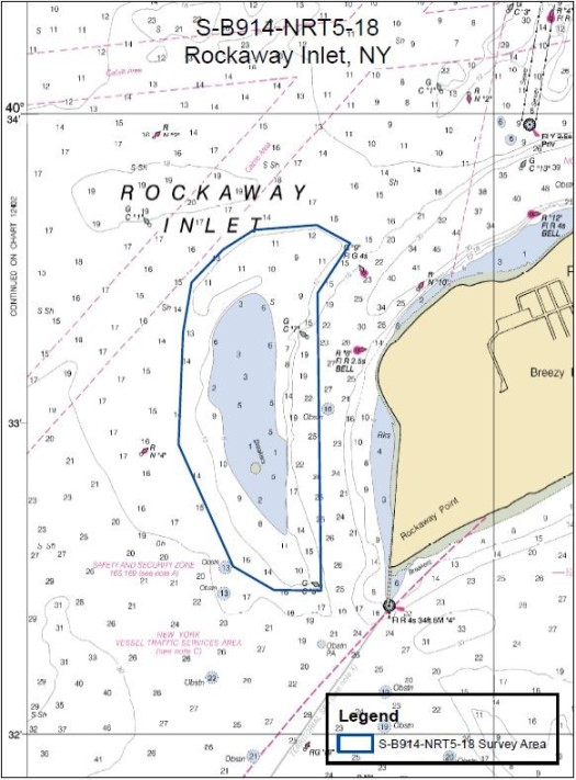 NRT5's survey area around the large sandbar off Rockaway Point.